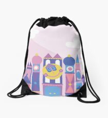 It's a small world after all Drawstring Bag