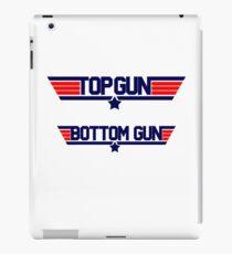 top gun bottom gun iPad Case/Skin