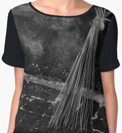 Sweeping Contrasts. Women's Chiffon Top