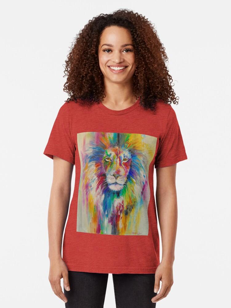 Alternative Ansicht von Rainbow lion Vintage T-Shirt