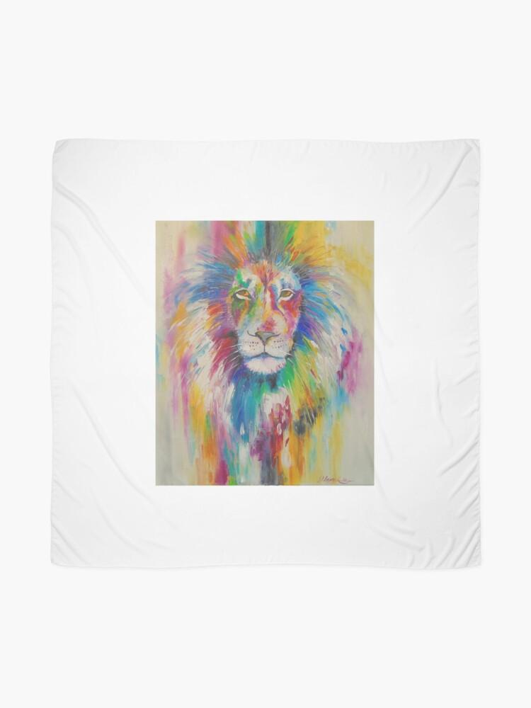 Alternative Ansicht von Rainbow lion Tuch