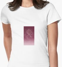 Leo Zodiac constellation - Starry sky Women's Fitted T-Shirt