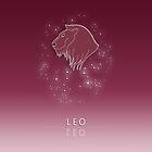 Leo Zodiac constellation - Starry sky by chartofthemomen