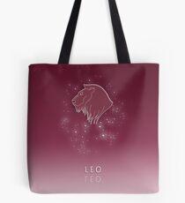 Leo Zodiac constellation - Starry sky Tote Bag
