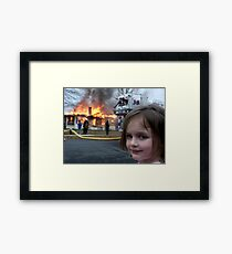 The Original Disaster Girl Framed Print