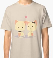 Couple cat for valentine Classic T-Shirt
