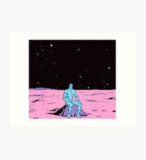 Dr. Manhattan on Mars Art Print