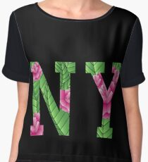 New York Rose Women's Chiffon Top
