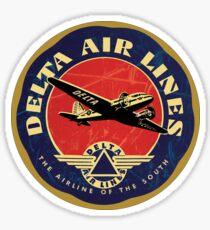 Delta Airlines Vintage USA Sticker