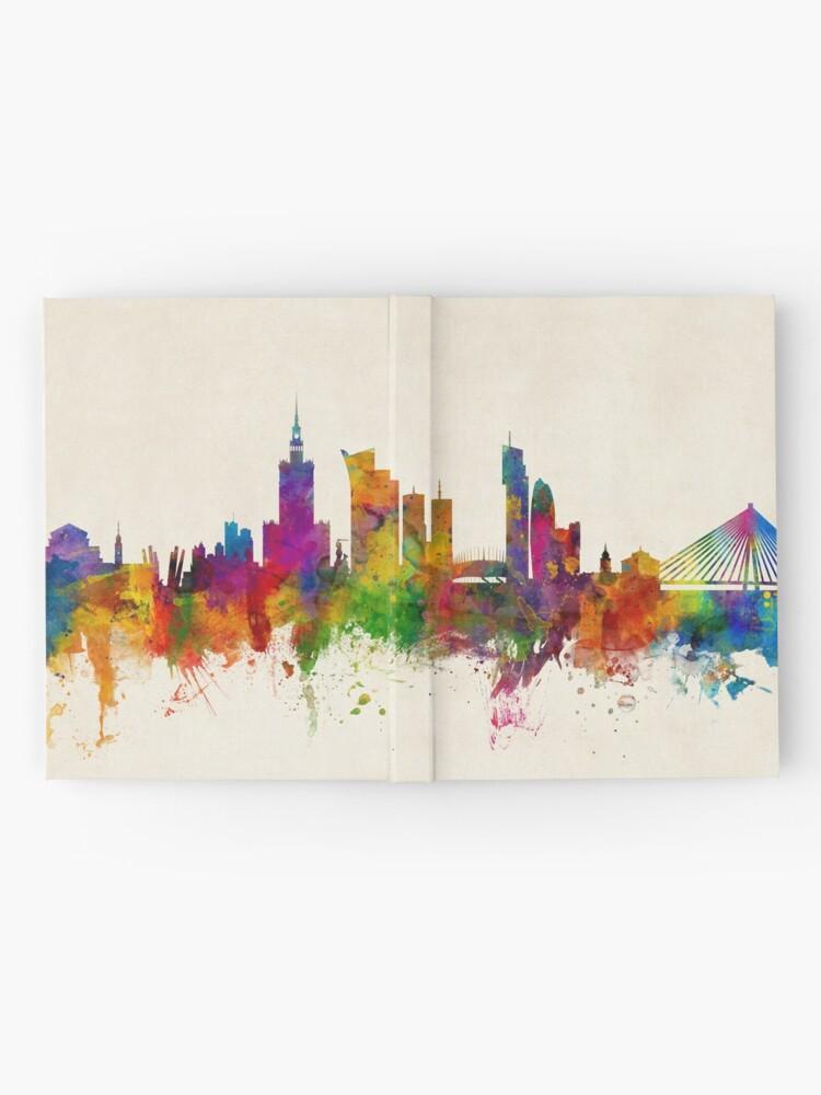 Alternative Ansicht von Warschau Polen Skyline Notizbuch