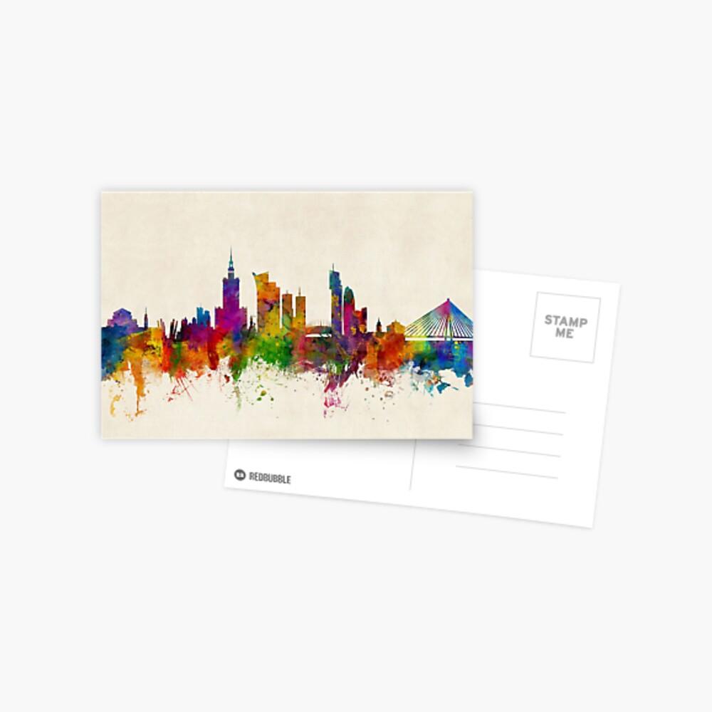 Warschau Polen Skyline Postkarte