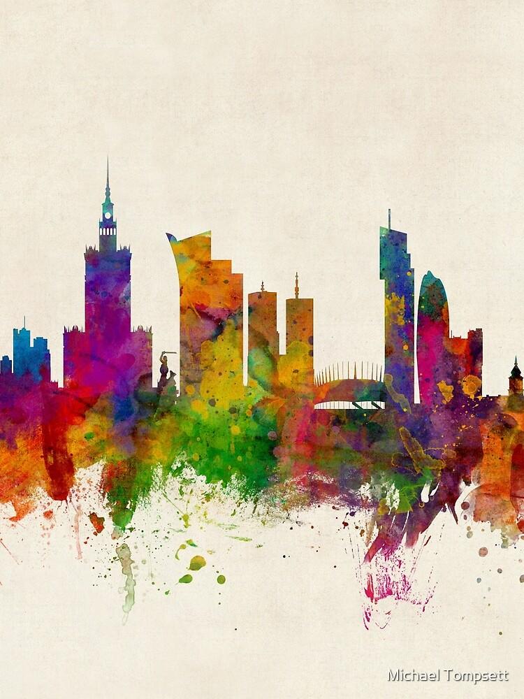 Warschau Polen Skyline von ArtPrints