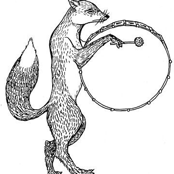 Drum playing fox by artistgoran