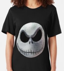 Polygon Art : Jack Skellington Slim Fit T-Shirt