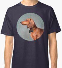 Mr. Dachshund portrait Classic T-Shirt