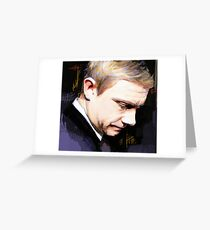 Martin Freeman Artwork Design 1 Greeting Card