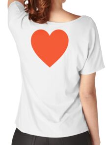 Heart, Romance, Love, Red, Love Heart, Pure & Simple, on WHITE Women's Relaxed Fit T-Shirt