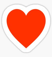 Heart, Romance, Love, Red, Love Heart, Pure & Simple, on WHITE Sticker
