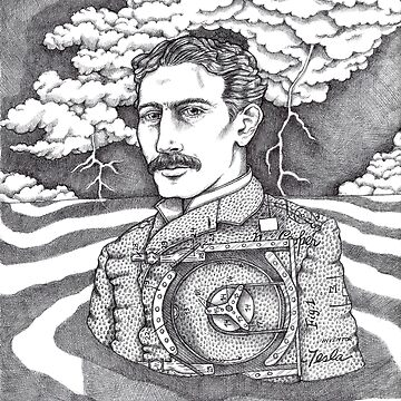 Tesla and His Bladeless Turbine by savannahguz