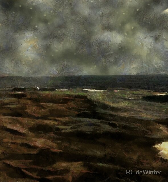 Silver Sliver over the Sea by RC deWinter