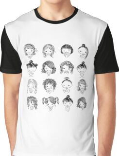 Set of cute girl characters, cartoon Graphic T-Shirt