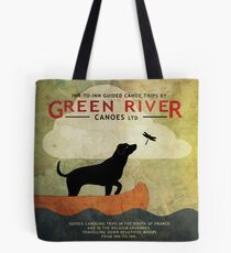 Bag - Canoeing with Dogs Tote Bag