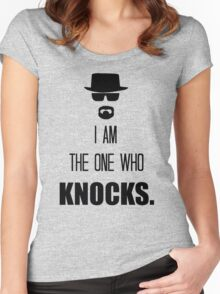 -BREAKING BAD- I Am The One Who Knocks Women's Fitted Scoop T-Shirt