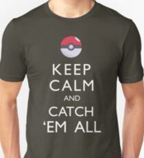 Keep Calm and Catch 'Em All Pokemon T-Shirt