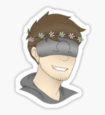 Ohmwrecker (Flower Crown) Sticker