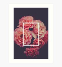 The 1975 Floral Rectangle Art Print