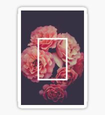 The 1975 Floral Rectangle Sticker