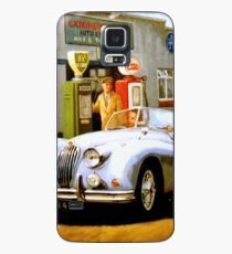 English sportscar at 1950s service station. Case/Skin for Samsung Galaxy