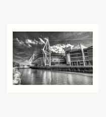 The Principality Stadium Monochrome Art Print