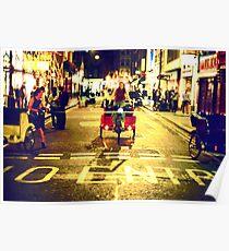 Rickshaw Riders (London Soho) Poster
