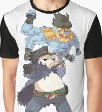 Pokemon-Pangoro x Machamp Jojo's bizarre adventure Graphic T-Shirt