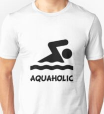 Aquaholic Swimmer Unisex T-Shirt