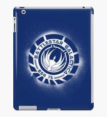 Battlestar Galactica Grunge - Dark Blue and White iPad Case/Skin