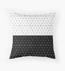 Contrast Diamond Grid  Monocrome Throw Pillow