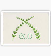 Eco Leaves Design  Sticker