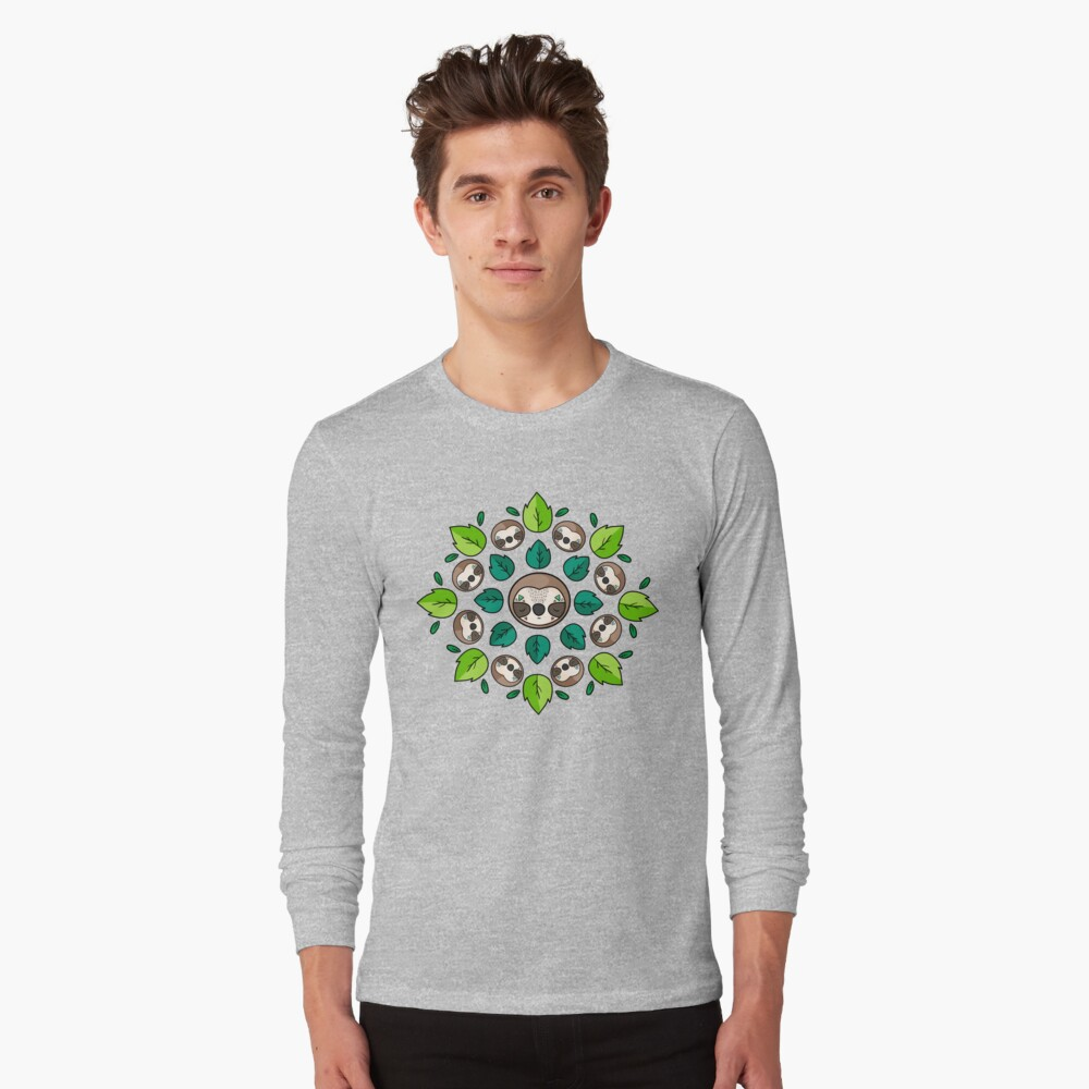 Mandala Sloth Long Sleeve T-Shirt