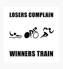Triathlon Winners Train Photographic Print