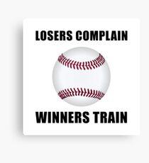 Baseball Winners Train Canvas Print