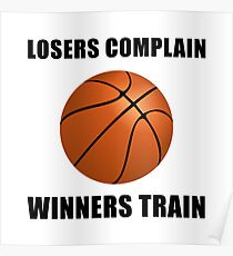 Basketball Winners Train Poster