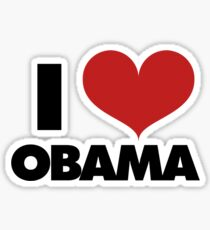 I love Obama Sticker
