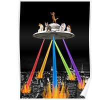 CAT INVADERS Poster
