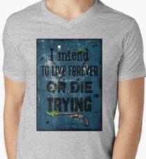 Die Trying Mens V-Neck T-Shirt