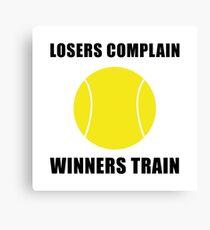 Tennis Winners Train Canvas Print