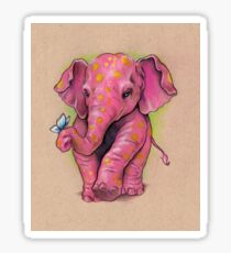 Pink Elephant (with golden spots) Sticker