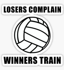 Volleyball Winners Train Loser Complain Sticker