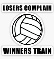 Volleyball Winners Train Loser Complain Sticker